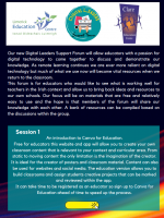 Digital Leaders Support Forum - An introduction to Canva for Education